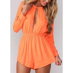 Orange Romper Perfect to add color to your holidays. Only have one in stock and it's a medium. NEW NEVER USED WITHOUT TAGS. Dresses Long Sleeve