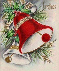 I love vintage cards. Vintage Christmas Images, Retro Christmas, Vintage Holiday, Christmas Pictures, Christmas Art, Christmas Decorations, Vintage Greeting Cards, Christmas Greeting Cards, Christmas Greetings