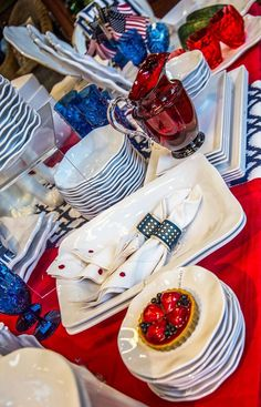 Create the best 4th of July spread with the functional and beautiful Q Squared line!