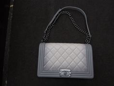 Chanel Le Boy Quilted VERY RARE  Gray Ombre Edition Pristine Condition $2026.0