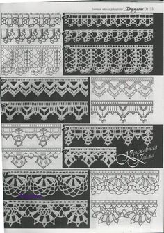 Häkelmuster Borte häkeln-  free crochet border pattern....