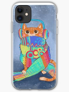 This cute cat is wrapped up in a crazy scarf, ready for winter to begin! • Millions of unique designs by independent artists. Find your thing. Iphone 11, Iphone Cases, Cat People, Cat Gifts, Cool Cats, Cotton Tote Bags, Cats And Kittens, Finding Yourself, Kitty