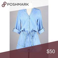 edecc746851e Shop Women s boutique Blue size Various Jumpsuits   Rompers at a discounted  price at Poshmark. Description  Down Town Denim Romper Now Available!