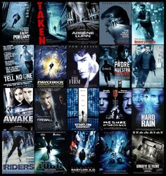 Blue sci-fi movie posters