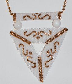 collar triángulo de Delica pulsera por ANASIS en Etsy