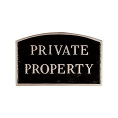 Montague Metal Products SP17SBS Private Property Arch Statement Plaque Standard Black and Silver *** Click on the image for additional details.