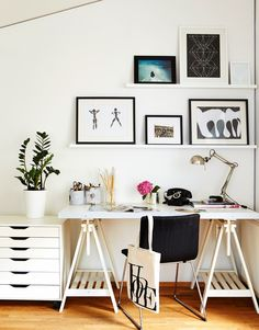 Office Styling Picture Rails In