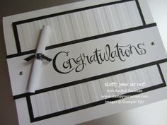 Elegant Graduation Card. Turn your graduation card into an elegant black and white style to match with the graduation theme for different stages.