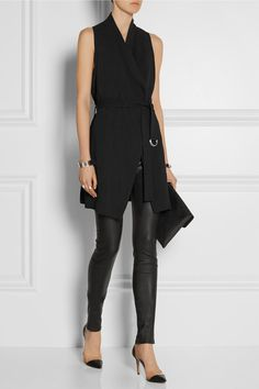 Helmut Lang - just love this styled with leather leggings.