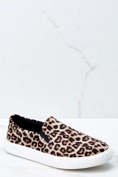 8797845bfab64b Follow The Beat Leopard Print Slip On Sneakers
