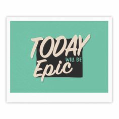 "Juan Paolo ""Epic Day"" Vintage Teal Fine Art Gallery Print"