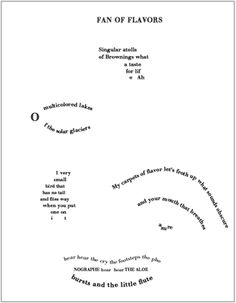 """Guillaume Apollinaire, """"Éventail des saveurs,"""" 1918, translated from the French by Ron Padgett"""