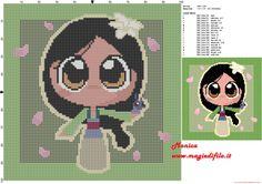 Chibi Mulan grille point de croix - 3100x2184 - 3916061
