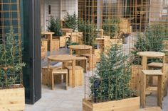 Kimoto Rooftop Beer Garden by Isometric Studio at the rooftop of Sheraton and Aloft Hotels, New York City » Retail Design Blog