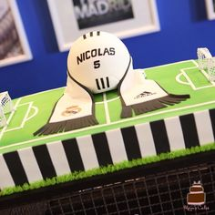 Real Madrid Soccer Cake