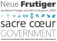 Neue Frutiger - 2009 updated version of famous typeface Frutiger