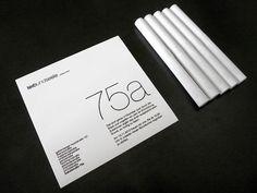 minimal but effective use of Helvetica neue thin/ultralight / FracArt