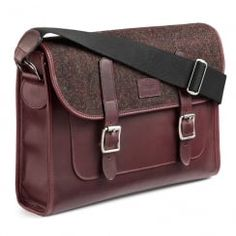 Discover the British made Marton Messenger bag at www.acassi.co.uk   Made from Leather and Harris Tweed.