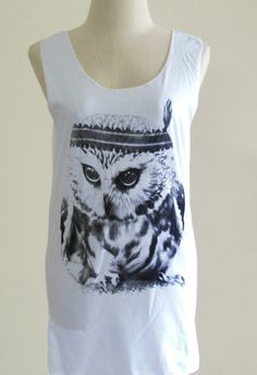 Baby Owl Cute Indian Style Hoot Tank Top Teens by sinclothing, $15.99