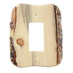 """Features:  -Switch plate.  -Made in the USA.  -Rustic collection.  Product Type: -Light Switches & Socket Plates.  Material: -Wood.  Size: -12"""" & Less.  Country of Manufacture: -United States.  Lighti                                                                                                                                                                                 More"""