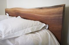 This walnut headboard was almost firewood, thankfully this woodworker gave it a better life :)