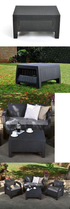 Patio and Garden Furniture Sets 139849 4 Pcs Outdoor Patio Sofa Set