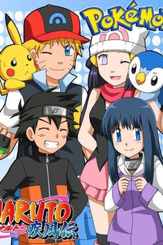 Naruto  Pokemon crossover :O (fan art)