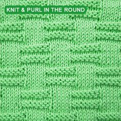 Blocks - Pattern 1 - knitting in the round. If you can knit and purl, you can work this stitch pattern. It involves purling the knits and knitting the purls on consecutive rounds.