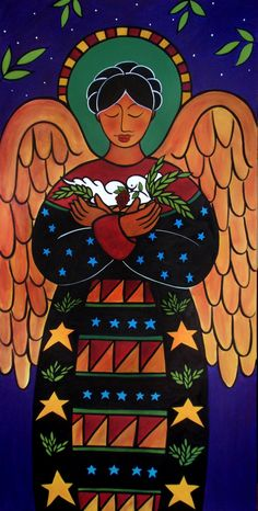 The Angel of Peace - Original Painting by Jan Oliver.