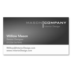 Generic Gray and White Corporate Business Card. This great business card design is available for customization. All text style, colors, sizes can be modified to fit your needs. Just click the image to learn more!