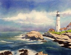 How to paint a seascape