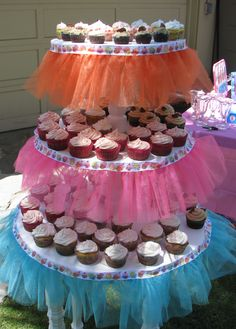 Cake Table decorated for Emme's 1st Birthday