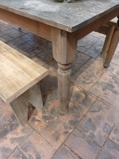 They designed and built their own farmhouse table.