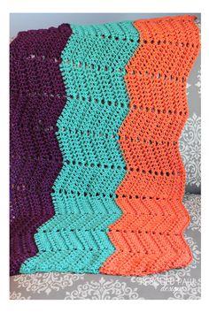 Crochet Ripple Blanket via Rescued Paw Designs