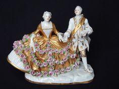 Antiguos Francés Sevres Porcelana Dresden Figura Estatuilla reina dama de Meissen Grupo | Antigüedades, Artes decorativas, Cerámicas y porcelanas | eBay!