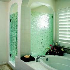 Elegant Bathroom Idea with Custom Glass Shower Door