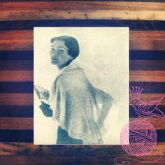 Pattern #1989 Angora shawl Vintage Knitting