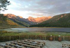 Vail Mountain Wedding Deck | Piney River Ranch