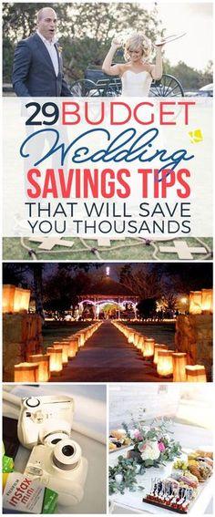 Budget wedding tips - great resource!