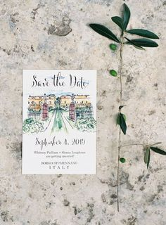 Florence, Italy wedding save the date. Carol Woldhuis. Photography: Vicki Grafton Photography - vickigraftonphotography.com