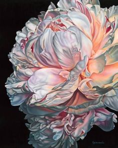 "Printmaking, ""Angels Breath Limited Edition of on Canvas Varnished"" - Saatchi Art Artist Irina Gretchanaia; Peony Painting, Watercolor Flowers, Painting & Drawing, Watercolor Paintings, Flower Painting Canvas, Encaustic Painting, Art Floral, Botanical Art, Flower Art"