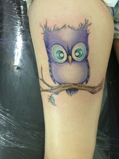 cute owl tattoo - dk if id get something exactly like this but I want a softer like watercolor tattoo of my owl I choose : )