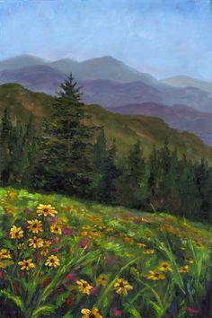 Mountains in Spring Appalachian near Boone