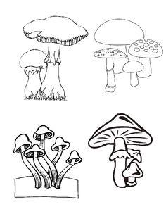 kleurplaat Herfst - Paddestoelen Coloring Books, Coloring Pages, Mushroom Drawing, Mushroom Crafts, Science Nature, Art Drawings, Illustration, Stencils, Stuffed Mushrooms