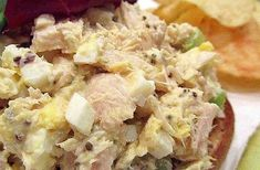 Tuna salad his is just an old-fashioned tuna egg sandwich that is simple and quick to make! My grandparents make these and tell me that this is the 'correct' way to make a hearty sandwich! Dog Treat Recipes, Sandwich Recipes, Egg Recipes, Salad Recipes, Salad Sandwich, Healthy Chicken Recipes, Easy Healthy Recipes, Healthy Snacks, Healthy Eating