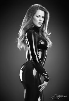 Khloe Kardashian in latex