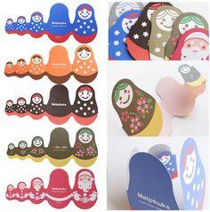ACTIVITE - Cartes pliables poupées russes matryoshka pour illustrer un lapbook ou tout simplement pour envoyer un petit mot tendre à un proche.
