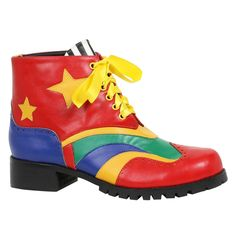 """Step up your clown game with these Men's Clown Shoes. Includes (1) pair of shoes with 1"""" heel."""