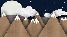 Paper mountains Wallpaper