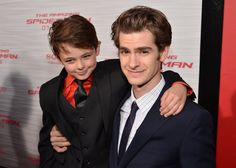 The two actors who played Peter Parker in The Amazing Spiderman :) this made my day!
